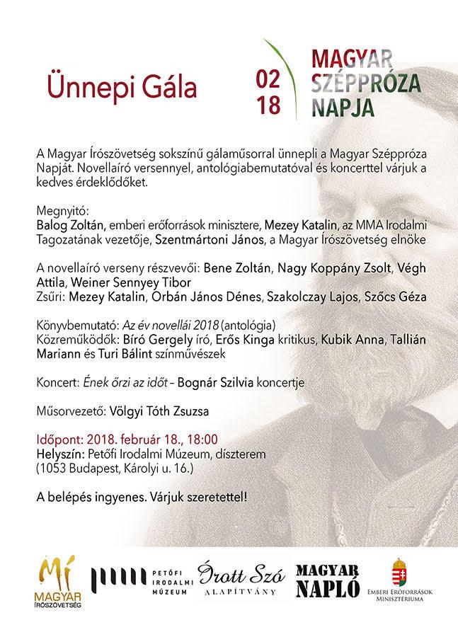 ünnepi gála magyar széppróza napja